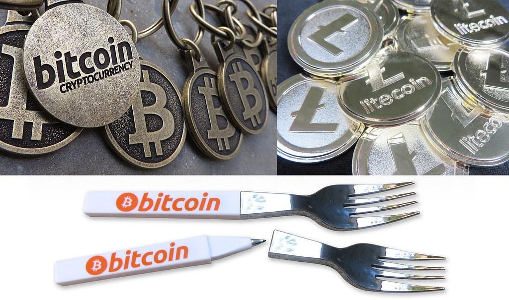 Bitcoin Keychains, Litecoin Keychains, Bitcoin Fork Pens