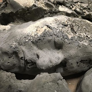 Experimenting with #cement casting. #sculpture #art | by bradisdrab