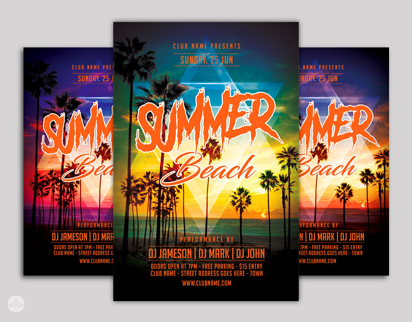Summer Flyer Template  Download Template Here  Flickr