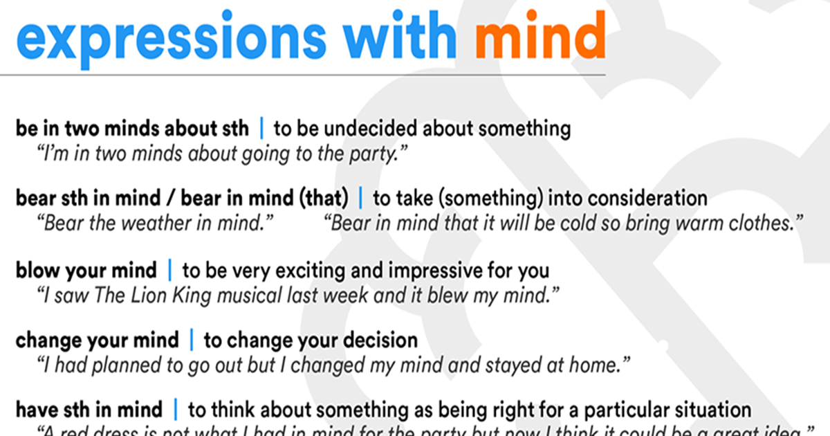 Common Expressions with Mind 5