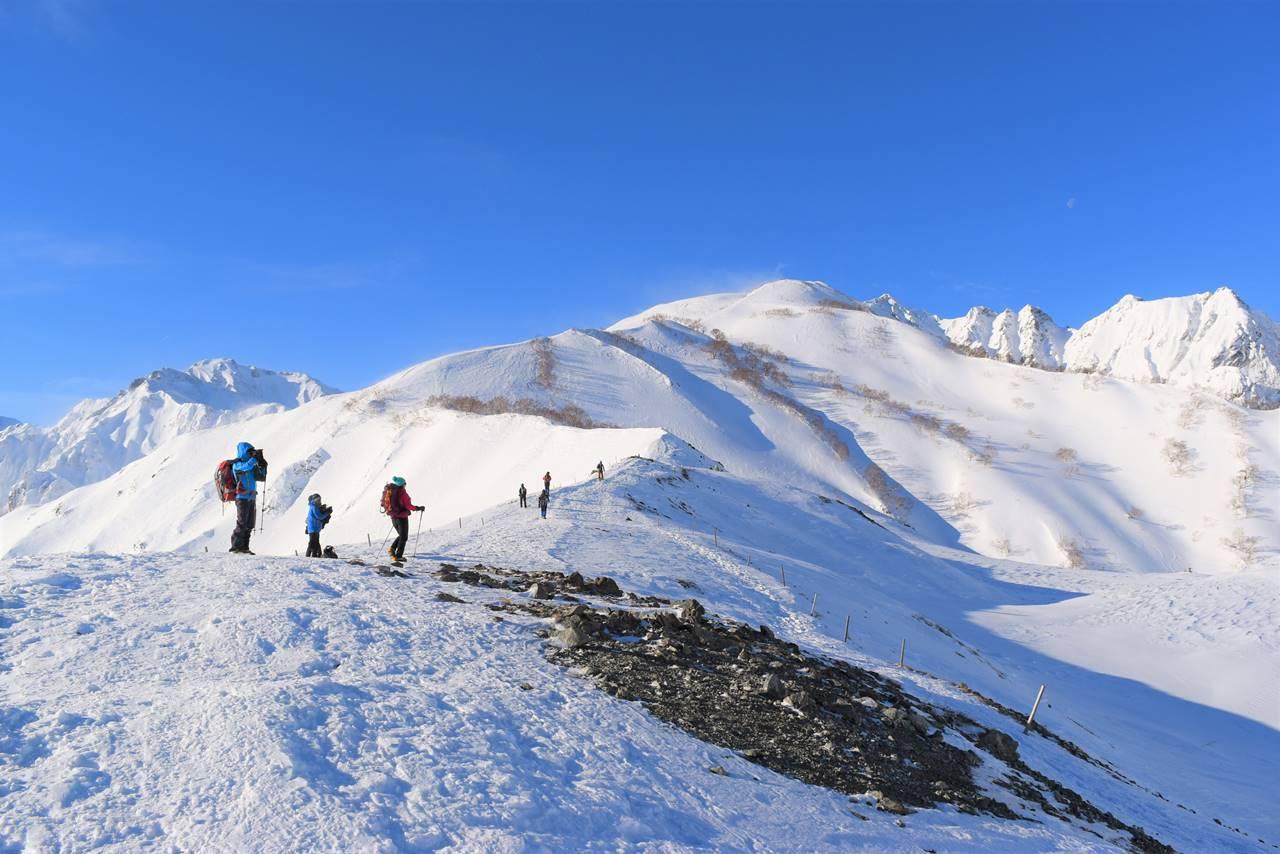 冬の唐松岳 雪山登山(八方尾根)