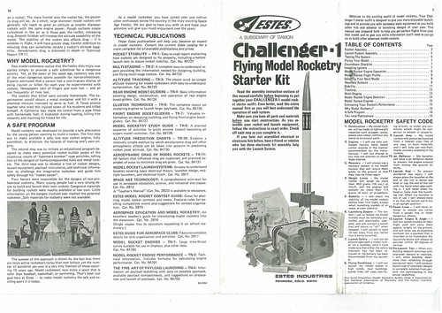 Estes Challenger-1 (1416) Starter Set Instructions (as printed) Pgs. 1 & 16 | by Model Rockets Rock!