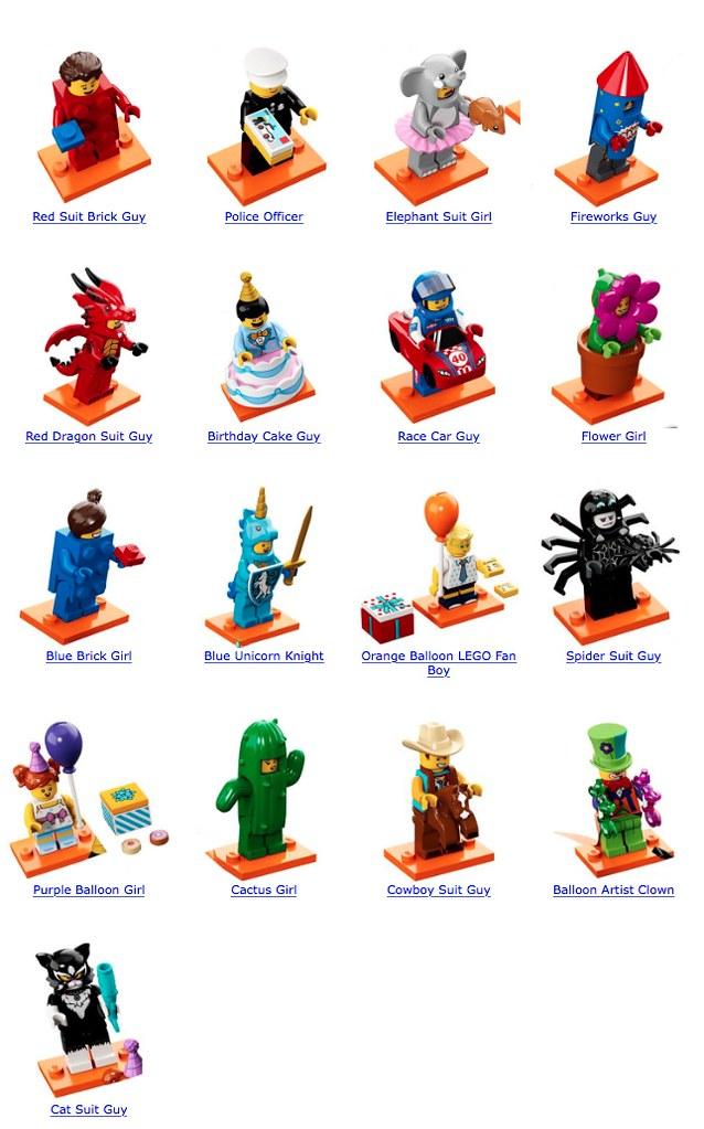 BLUE BRICK SUIT GIRL New 71021 Lego Minifigures Series 18