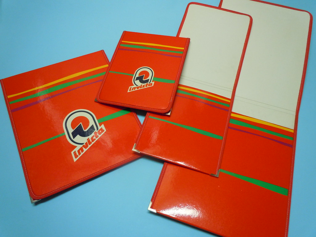 80s invicta a5 a4 pocket drawing folders red vers flickr