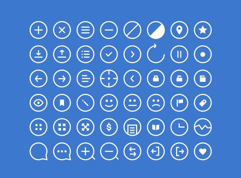 Rounded Icons – icons for Photoshop in PSD