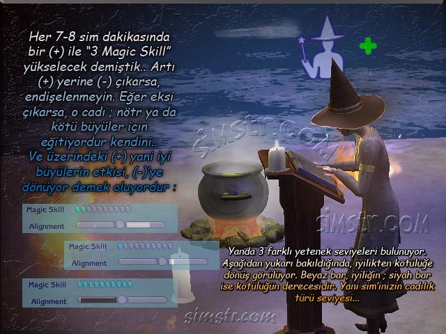 The Sims 2 Apartment Life Apartman Hayatı Witchiness Cadılık Magic Skill Sihir Yapma Yeteneği İyi Kötü Büyüler