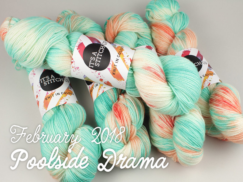 Yarn Club February 2018: 'Poolside Drama'