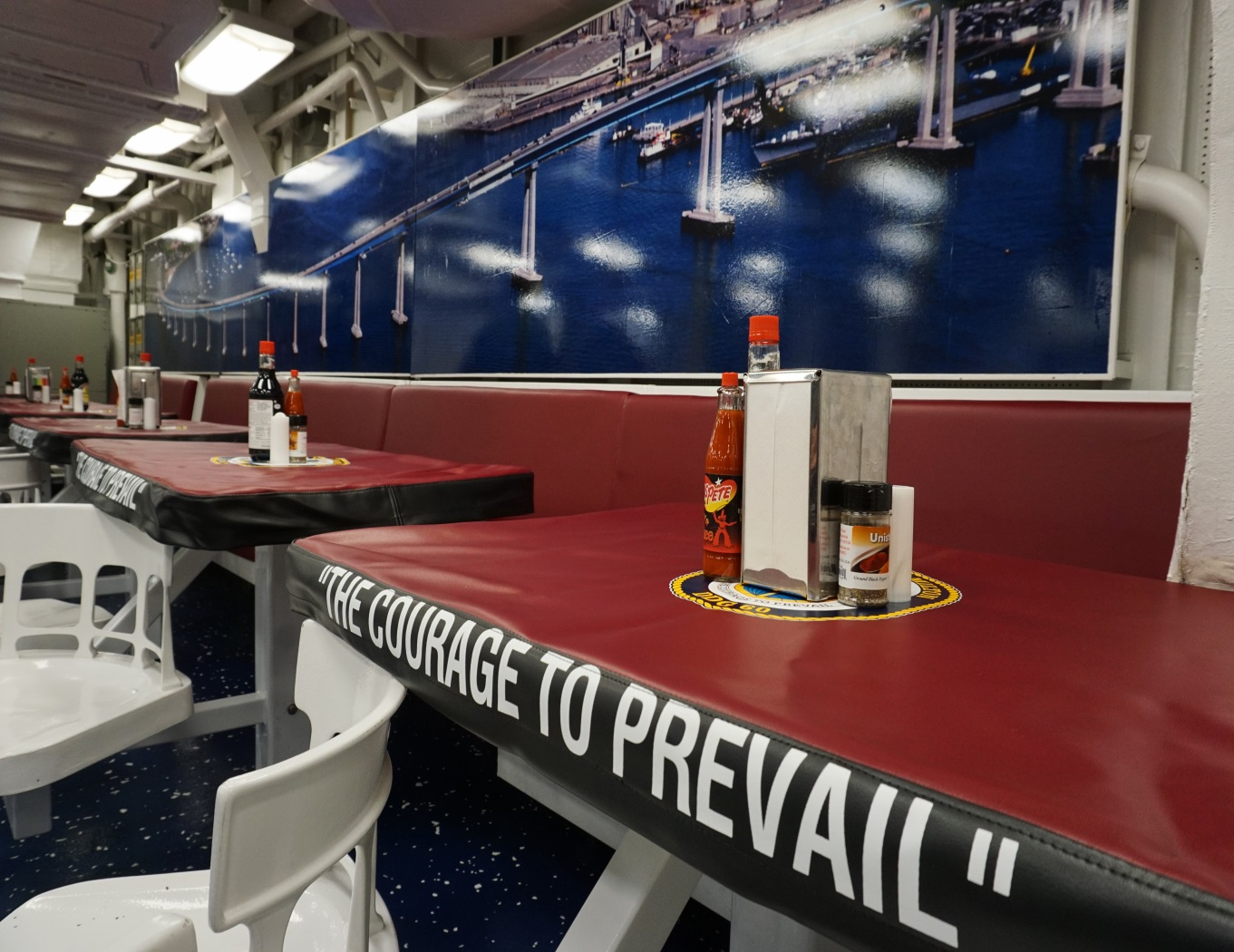 SAN DIEGO, CA. – SAN DIEGO, CA. – The crew of the guided missile destroyer USS PAUL HAMILTON (DDG 60) celebrated the re-opening of the ship's galley and mess decks January 22, 2018