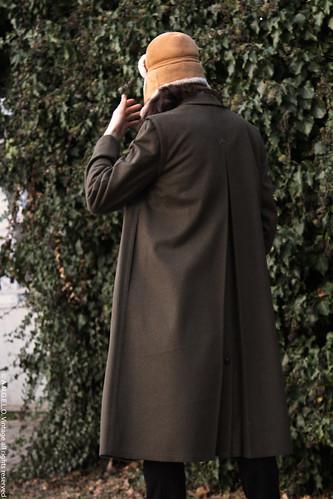 Cappotto loden vintage angelo retro soprabito lungo