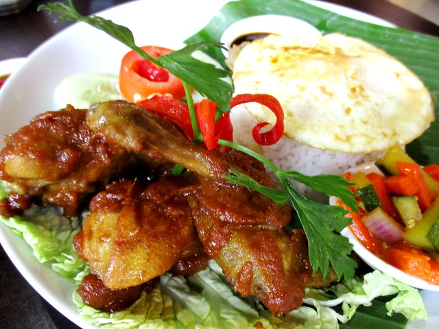 The Cafe Ind ayam bakar berempah set