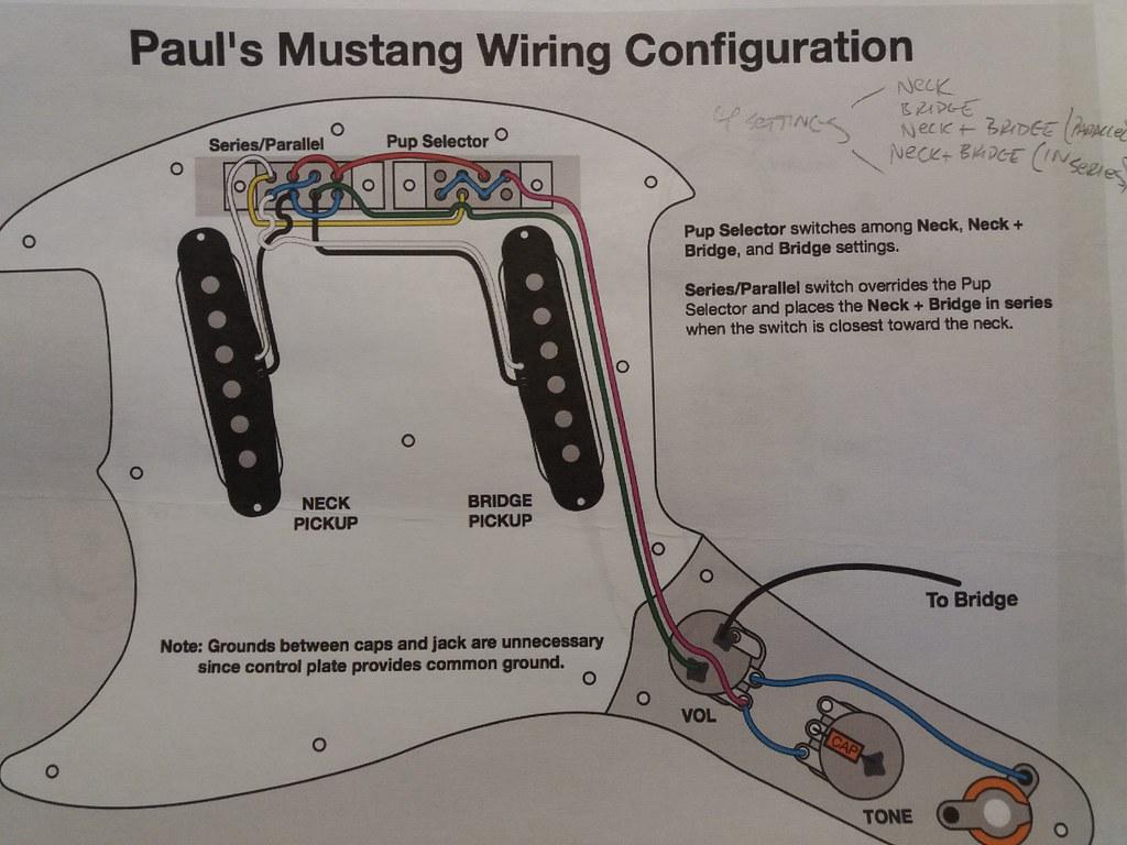 Fender Mustang Alternate Wiring | The in-series/in-parallel … | Flickr