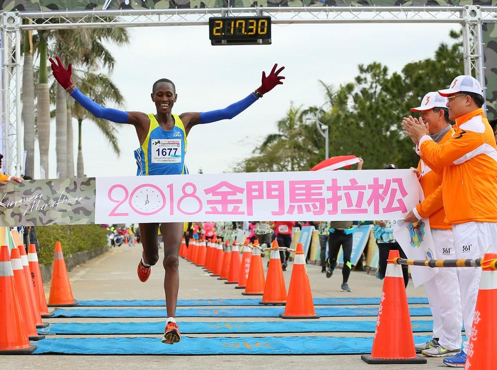 肯亞選手Samuel Mungara Kamiti。(大漢集團提供)