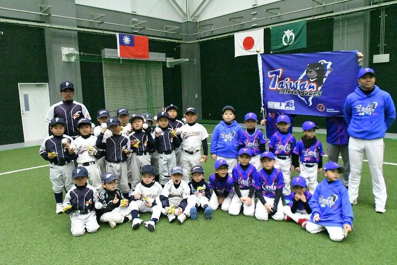 台灣黑熊幼兒棒球隊赴日參加交流賽。(台灣幼兒棒球聯盟協會提供)