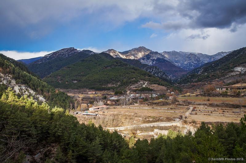 Serra del Moixeró desde la Vía del Nicolau