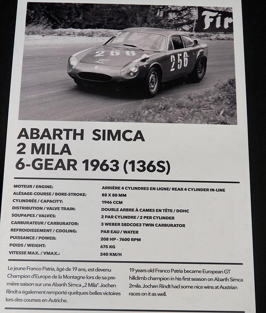Abarth Simca 2000 boite 6 vitesses 1963 39307650795_faf1027c3f_z