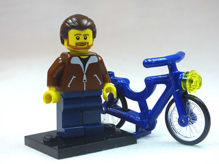 Brick Yourself Custom Lego Figure Nice Guy with Blue Bike | by BrickManDan