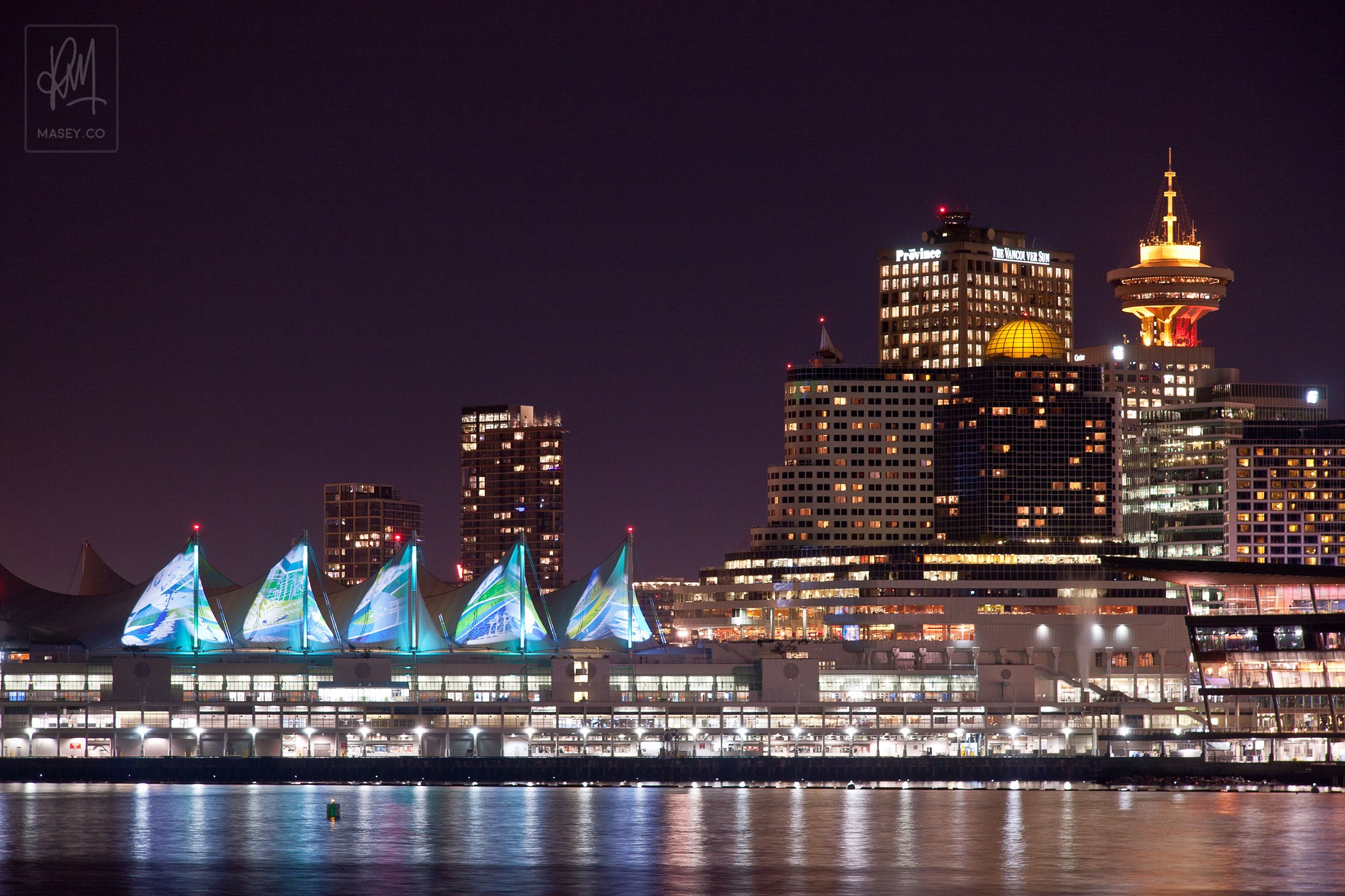 The sails on Canada Place have had a bit of an Olympic-flavoured makeover too.