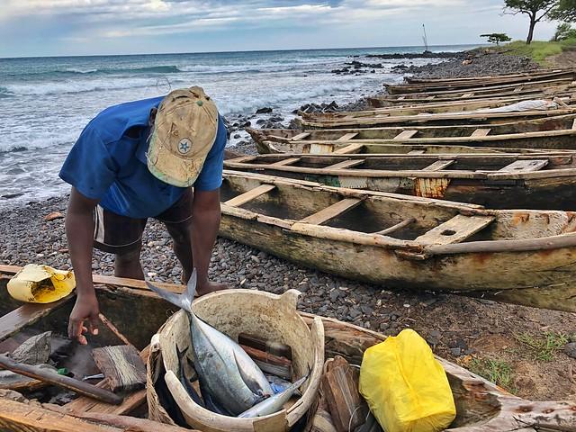 Pescador en Santo Tomé y Príncipe