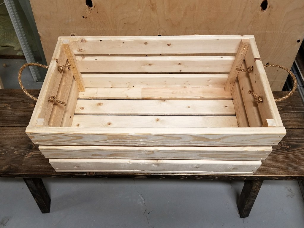 how to build a wooden storage crate