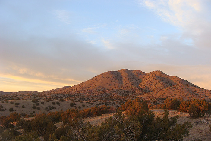 twilight walk at Cerrillos Hills State Park