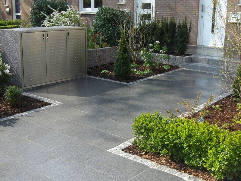 Hauseingang Mit Granitplatten Dunkelgraue Granitplatten Ko Flickr