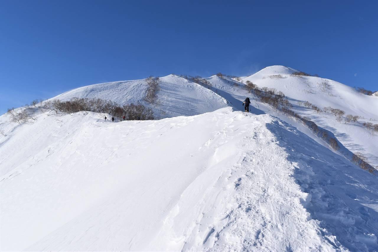 八方尾根 雪山登山