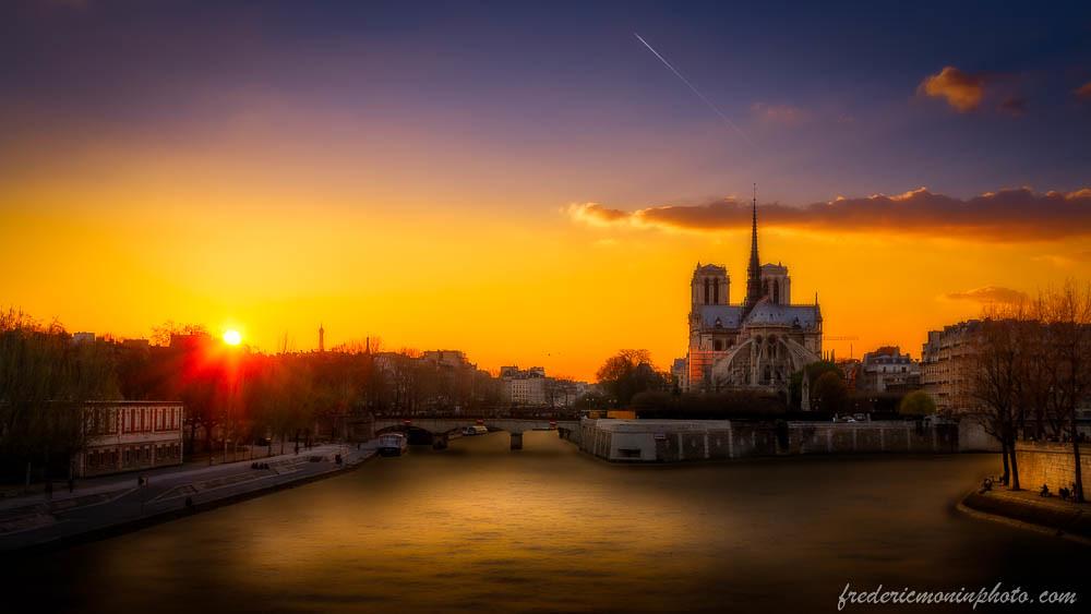 Sunset on notre dame at paris coucher de soleil sur la flickr - Coucher de soleil sur paris ...
