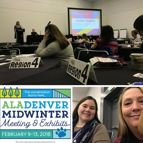 Heather and CathyJo at ALAMW18 Affiliate Assembly