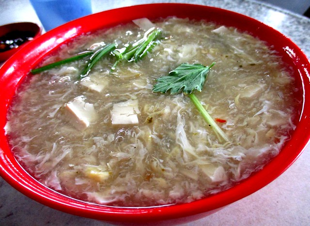 Foochow tofu soup with canned oysters