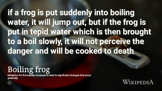 The fable of the boiling frog @Wikipedia  #BoilingFrogs  🐸 | by dullhunk