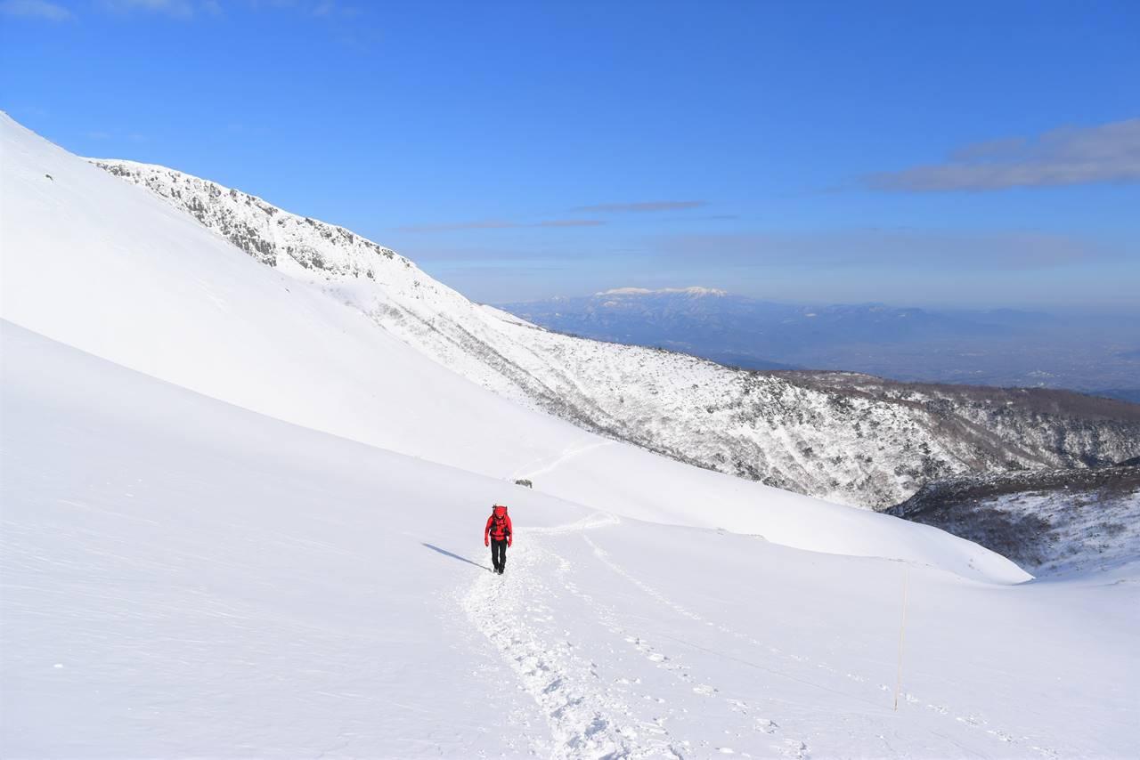 冬の安達太良山の風景