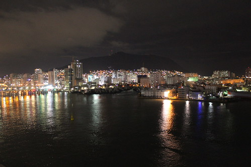 Nightly view over the Busan harbour from the Jagalchi Market | by Timon91
