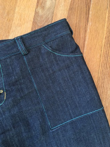 Lander Pant from True Bias in Denim | by patternandbranch