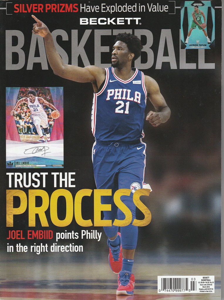 March 2018 Basketball Beckett Monthly Price Guide Vol 29 No 03 Joel ...