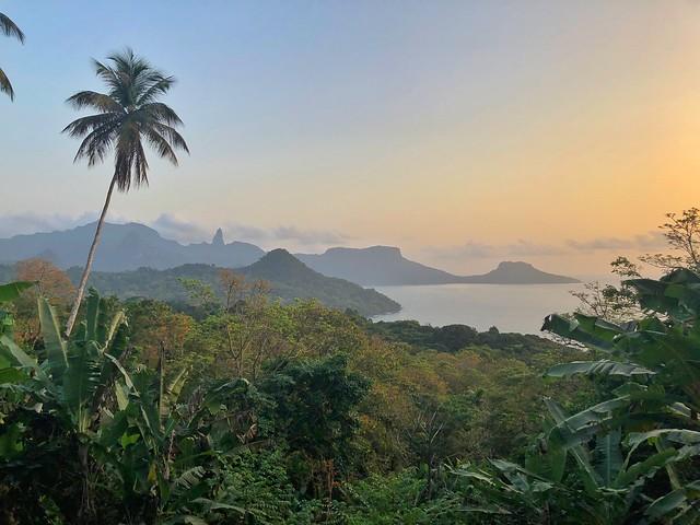 Paisaje de Príncipe desde Oké Daniel (Santo Tomé y Príncipe)