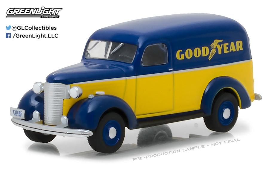 Chevrolet Panel Truck  GOOD YEAR  RUNNING ON EMPTY  Greenlight 1:64  OVP  NEU