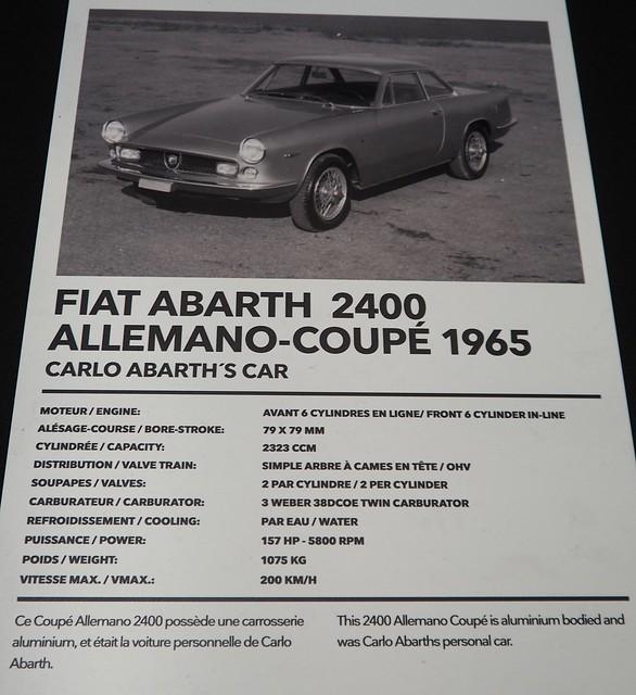 Abarth 2400 Allemano 1965 carrosserie aluminium 25433595337_146904a7b1_z