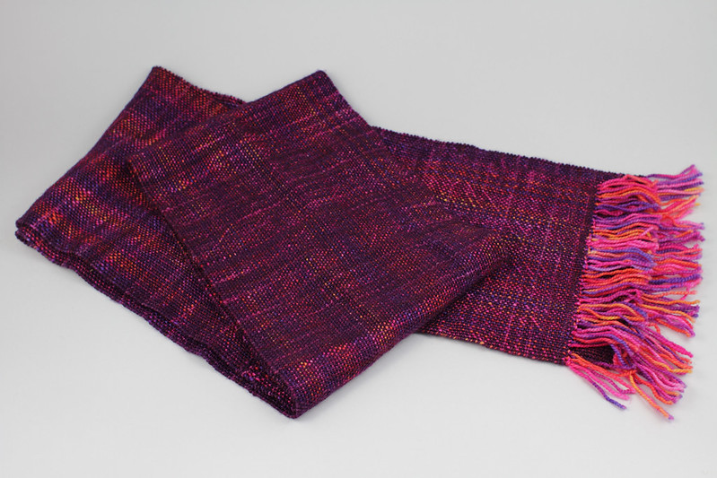 The finished sock yarn scarf