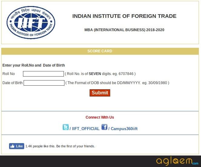 IIFT Result 2018 Announced – Download IIFT Scorecard 2018