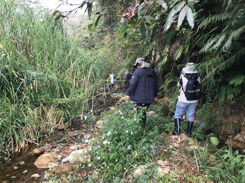 前往野生台灣白魚的棲息地。圖片來源:王堯弘。