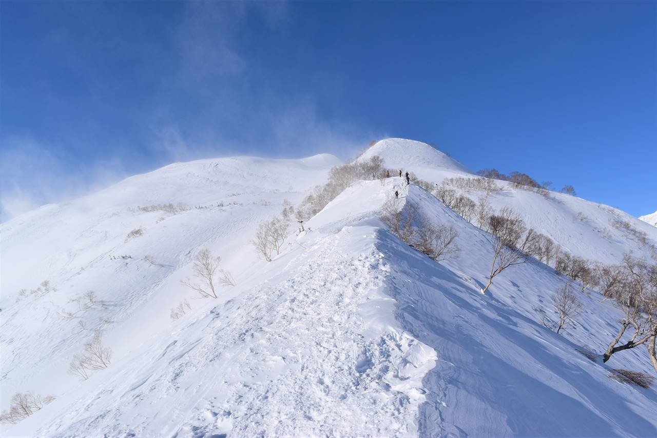 雪の八方尾根 唐松岳雪山登山
