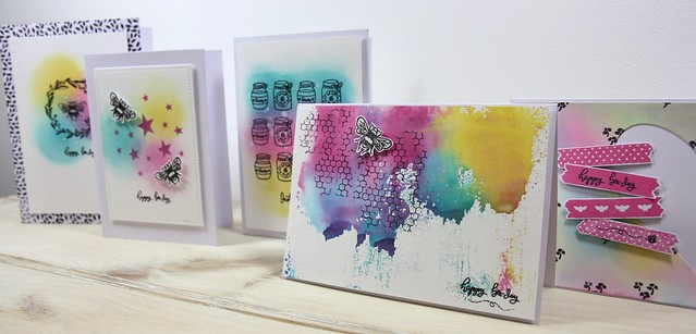 How to use Distress Oxides - finished cards
