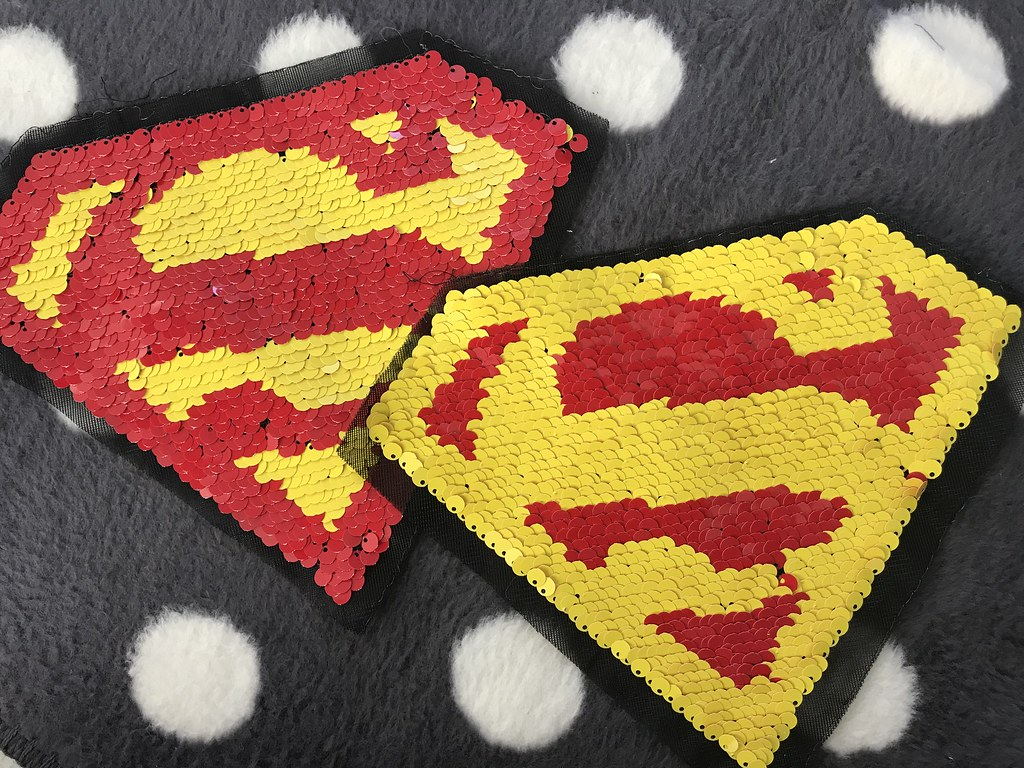 Pailletten-Patch Superman, VE: 1 Stk.