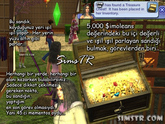 The Sims 2 Bon Voyage Find Treasure Chest Hazine Sandığı