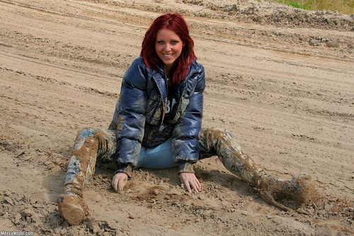 Sexy Thigh Boots In Mud, Messy, Wet!!!
