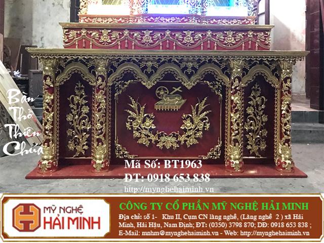 BT1964h Ban Tho Thien Chua do go mynghehaiminh