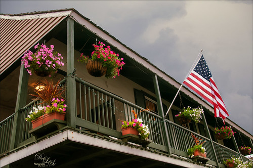 Image of flowers on a balcony in St. Augustine