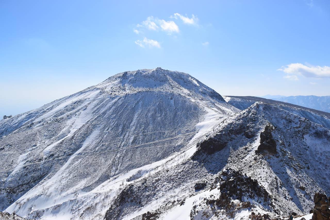 冬の那須岳登山 茶臼岳と剣ヶ峰