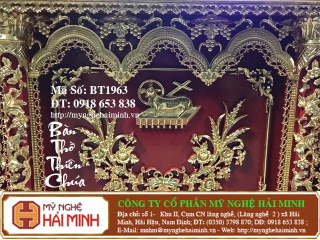 BT1964i Ban Tho Thien Chua do go mynghehaiminh