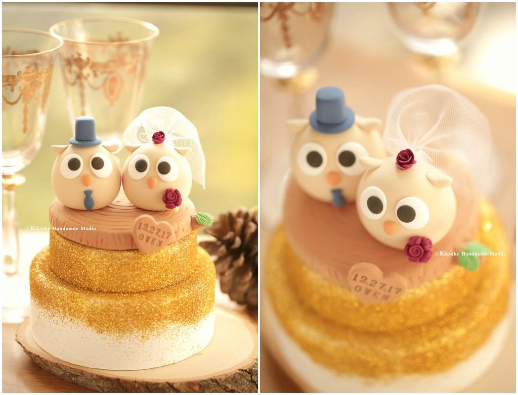 Love owls bride and groom MochiEgg custom wedding cake top… | Flickr